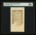 Colonial Notes:Rhode Island, Rhode Island May 1786 9d PMG Gem Uncirculated 66 EPQ....