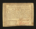 Colonial Notes:Rhode Island, Rhode Island July 2, 1780 $3 Very Fine-Extremely Fine....