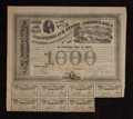 Confederate Notes:Group Lots, Ball 201 Cr. 125 $1000 Bond 1863 Fine. . ...