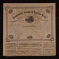 Confederate Notes:Group Lots, Ball 212 Cr. 120 $100 Bond 1861 Fine.. ...