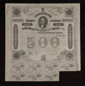 Confederate Notes:Group Lots, Ball 192 $500 1863 Bond Very Fine. . ...