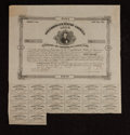 Confederate Notes:Group Lots, Ball 87 Cr. 20 $50 Bond 1861 Very Fine.. ...
