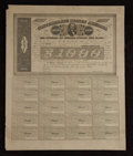 Confederate Notes:Group Lots, Ball 280 Cr. 138 $1000 Bond 1863 Very Fine. . ...