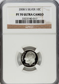 Proof Roosevelt Dimes, 2008-S 10C Silver Proof PR70 Ultra Cameo NGC. NGC Census: (0). PCGS Population (333). Numismedia Wsl. Price for problem fr...