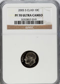 Proof Roosevelt Dimes, 2005-S 10C Clad PR70 Ultra Cameo NGC. NGC Census: (0). PCGSPopulation (181). Numismedia Wsl. Price for problem free NGC/P...
