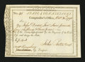 Colonial Notes:Connecticut, Connecticut Civil List. October 31, 1793. Extremely Fine....