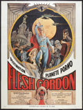 "Movie Posters:Sexploitation, Flesh Gordon (S.N.D, 1974). French Grande (47"" X 63"").Sexploitation.. ..."