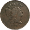 Half Cents, 1795 1/2 C Lettered Edge, Punctuated Date VF25 PCGS....
