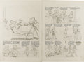 "Original Comic Art:Panel Pages, Al Feldstein - ""Going Steady With Peggy"" Penciled Page OriginalArt, Group of 8 (undated). ..."