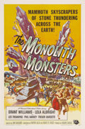 "Movie Posters:Science Fiction, The Monolith Monsters (Universal International, 1957). One Sheet(27"" X 41""). A meteor falls in the desert and spews thousan..."
