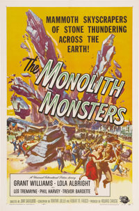 """The Monolith Monsters (Universal International, 1957). One Sheet (27"""" X 41""""). A meteor falls in the desert and..."""