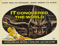 "Movie Posters:Science Fiction, It Conquered the World (American International, 1956). Half Sheet(22"" X 28""). Roger Corman directed this thriller about an ..."