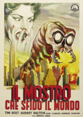 "Movie Posters:Science Fiction, The Monster that Challenged the World (United Artists, 1957).Italian 2 - Folio (39"" X 55""). Yep, it's a giant mollusk! And ..."