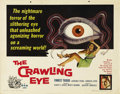 """Movie Posters:Science Fiction, The Crawling Eye (DCA, 1958). Half Sheet (22"""" X 28""""). This Germanhorror film featured a crawling eye terrorizing the local ..."""