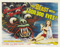 "Movie Posters:Science Fiction, The Beast with 1,000, 000 Eyes! (American Releasing Corp., 1955).Half Sheet (22"" X 28""). Legendary producer Roger Corman br..."