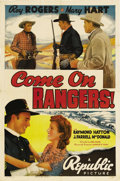 "Movie Posters:Western, Come On Rangers! (Republic, 1938). One Sheet (27"" X 41""). Western...."