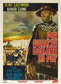 "Movie Posters:Western, For a Few Dollars More (United Artists, 1967). Italian 2 - Folio(39"" X 55""). This 2-Folio has pinholes and minor edge chips..."