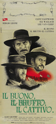 """The Good, The Bad and the Ugly (United Artists, 1968). Italian Locandina (12"""" X 26.75""""). The end to an epic tr..."""