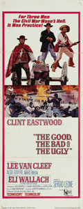 "Movie Posters:Western, The Good, The Bad and the Ugly (United Artists, 1968). Insert (14""X 36""). Though shot as the final installment of the Sergi..."