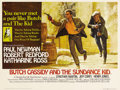 "Movie Posters:Western, Butch Cassidy and the Sundance Kid (20th Century Fox, 1969).British Quad (30"" X 40""). Paul Newman and Robert Redford practi..."