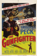 "Movie Posters:Western, The Gunfighter (20th Century Fox, 1950). One Sheet (27"" X 41"").Gregory Peck gives one of his greatest performances as Johnn..."