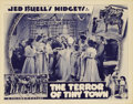 """Movie Posters:Western, The Terror of Tiny Town (Columbia, 1937). Lobby Card (11"""" X 14""""). """"Jed Buell's Midgets"""" (as they were billed) began their fi..."""