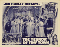 """The Terror of Tiny Town (Columbia, 1937). Lobby Card (11"""" X 14""""). """"Jed Buell's Midgets"""" (as they wer..."""