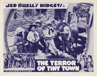 "The Terror of Tiny Town (Columbia, 1937). Lobby Card (11"" X 14""). The plot of this film reads like any other g..."