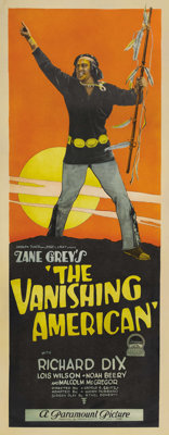 """The Vanishing American (Paramount, 1925). Insert (14"""" X 36""""). In one of the more important Westerns of cinema..."""