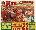 "Movie Posters:Western, Tom Mix Circus Poster (Circus Poster, 1937). Poster (41"" X 27""). In1934 Tom Mix, one of the greatest of the screen's Wester..."