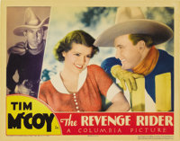 "The Revenge Rider (Columbia, 1935). Lobby Card (11"" X 14""). A cross-pollination between Western and mystery, t..."