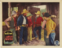 """The Lawless Frontier (Monogram, 1934). Lobby Card (11"""" X 14""""). After making a big splash in the starring role..."""