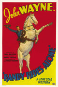 "Movie Posters:Western, Randy Rides Alone (Monogram, 1934). Stock One Sheet (27"" X 41""). Inone of the most memorable opening scenes from any of the..."