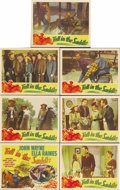 "Movie Posters:Western, Tall in the Saddle (RKO, 1944). Title Lobby Card and Lobby Cards(6) (11"" X 14""). John Wayne portrays Rocklin, a cowboy who ...(Total: 7 Item)"