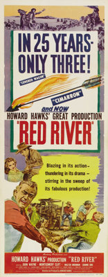 """Red River (United Artists, 1948). Insert (14"""" X 36""""). The great American Western didn't get any better than wh..."""