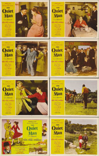 """The Quiet Man (Republic, 1952). Lobby Card Set of 8 (11"""" X 14""""). John Ford's personal favorite of all of his f..."""