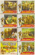 """Movie Posters:War, Back to Bataan (RKO, 1945). Lobby Card Set of 8 (11"""" X 14""""). JohnWayne stars as a US Army Colonel who stays on after the Ja...(Total: 8 Item)"""