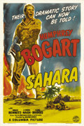 "Movie Posters:War, Sahara (Columbia, 1943). One Sheet (27"" X 41"") Style A. SergeantJoe Gunn (Humphrey Bogart) leads an abandoned tank unit aft..."