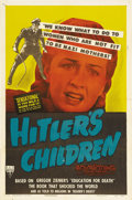 """Movie Posters:War, Hitler's Children (RKO, 1943). One Sheet (27"""" X 41""""). Two filmscame out of Gregor Zimmer's book """"Education for Death"""", the ..."""