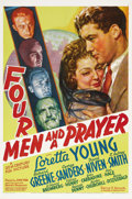 "Movie Posters:Adventure, Four Men and a Prayer (20th Century Fox, 1938). One Sheet (27"" X41""). When patriarch Col. Loring Leigh (C. Aubrey Smith) is..."