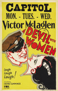 "Movie Posters:Adventure, A Devil with Women (Fox, 1930). Window Card (14"" X 22""). Hollywoodlore states that this film was supposed to be the first i..."