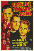 "Movie Posters:Drama, Angels with Dirty Faces (Warner Brothers, 1938). Argentinian OneSheet (29"" X 43""). Director Michael Curtiz delivers a fast ..."