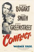 """Movie Posters:Drama, Conflict (Warner Brothers, 1945). One Sheet (27"""" X 41""""). Humphrey Bogart, Sydney Greenstreet, and Alexis Smith star in this ..."""
