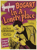 "Movie Posters:Film Noir, In a Lonely Place (Columbia, 1950). Poster (30"" X 40""). Heritagehas been fortunate to offer quite a few different posters o..."