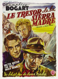 "Movie Posters:Drama, The Treasure of the Sierra Madre (Warner Brothers, 1948). Belgian(14"" X 22""). John Huston's great story of gold, greed and ..."