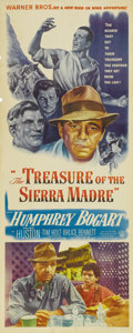 "Movie Posters:Drama, The Treasure of the Sierra Madre (Warner Brothers, 1948). Insert(14"" X 36""). The third of six collaborations between writer..."