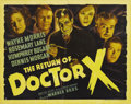 "Movie Posters:Horror, The Return of Dr. X (Warner Brothers, 1939). Half Sheet (22"" X 28"")Style B. Humphrey Bogart makes one of his strangest scre..."
