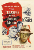 "Movie Posters:Drama, The Treasure of the Sierra Madre (Warner Brothers, 1948). One Sheet(27"" X 41""). Writer/Director John Huston obviously knew ..."