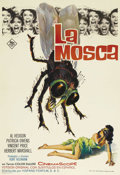 "Movie Posters:Horror, The Fly (20th Century Fox, 1963 release). Spanish One Sheet (27"" X39.5""). This great one sheet from the Vincent Price class..."
