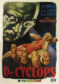 "Movie Posters:Horror, Dr. Cyclops (Paramount, 1940). Italian 4 - Folio (55"" X 78"").Albert Dekker portrays the mad scientist Dr. Thorkel in this t..."